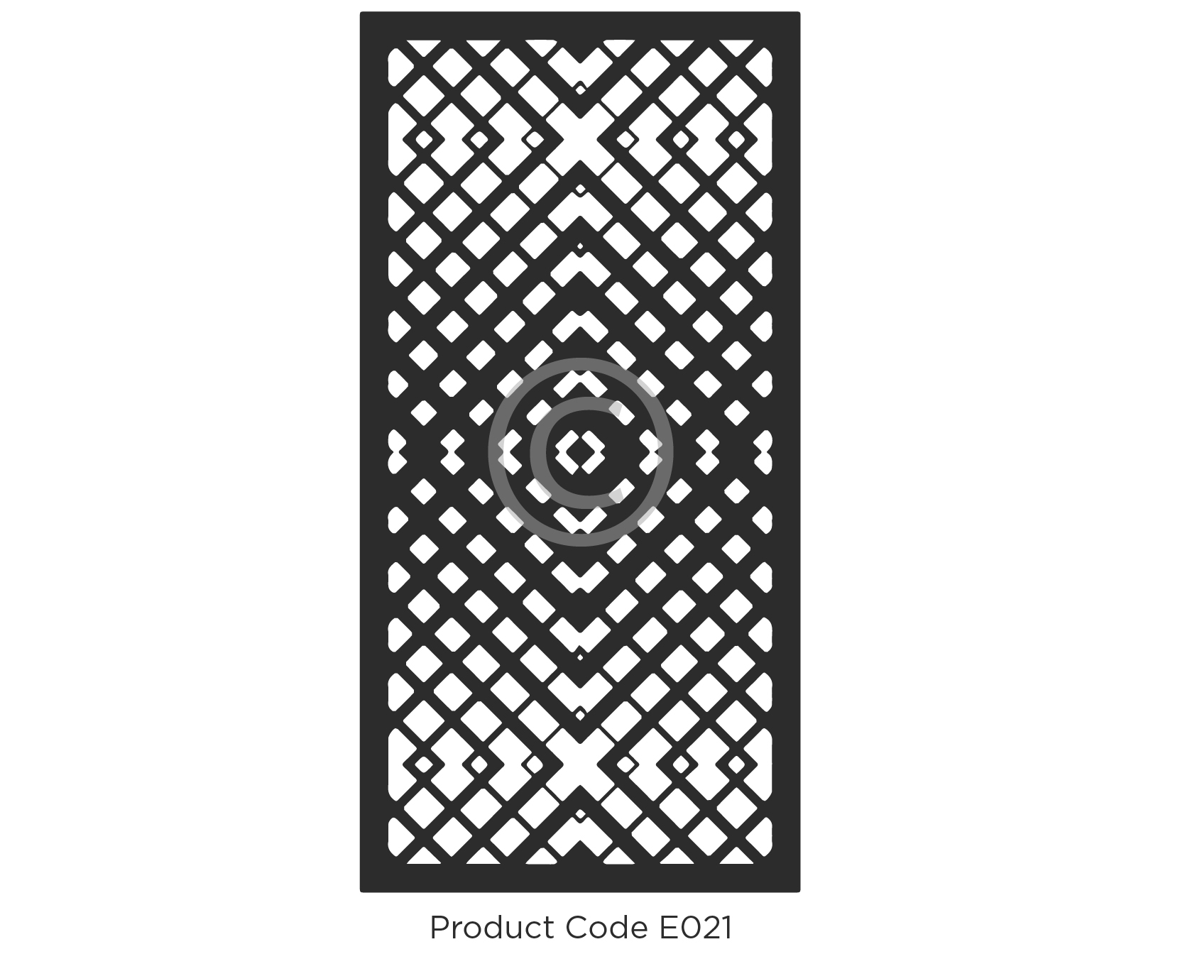 Elysium Decorative Screen Product Code E021 Geometric Design of a gradient effect with darker centre