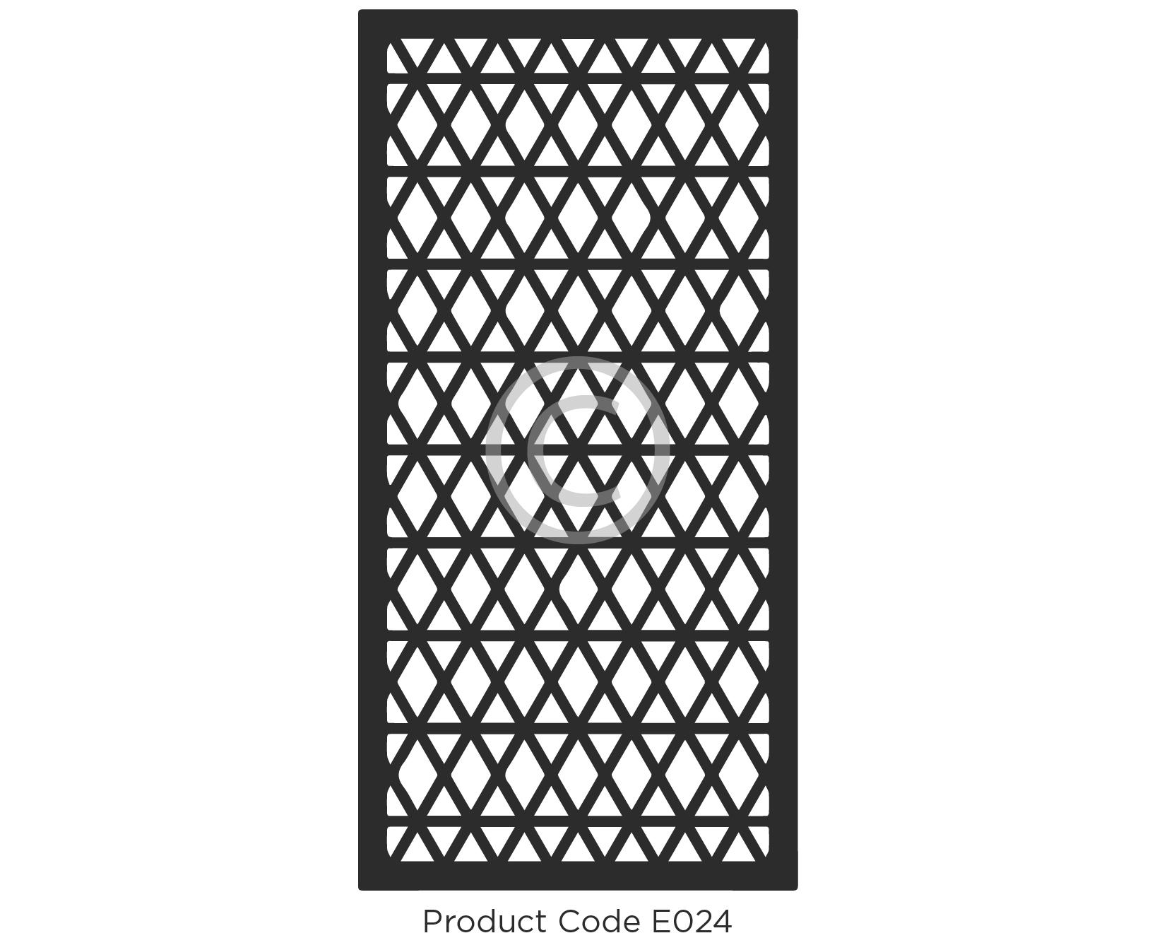Elysium Decorative Screen Product Code E024 Geometric Design of angular lines