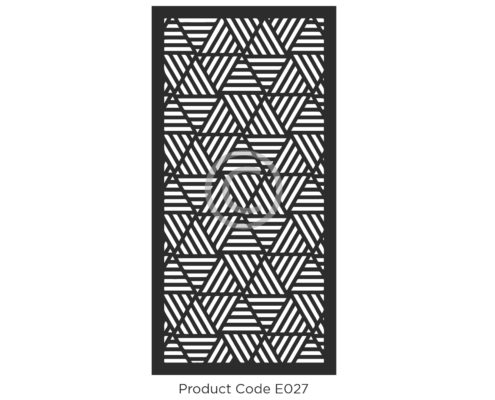 Elysium Decorative Screen Product Code E027 Geometric Design of triangles and lines