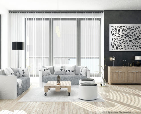 Elysium Decorative Screens Gallery Image Lounge Room with a decorative screen as a feature artwork