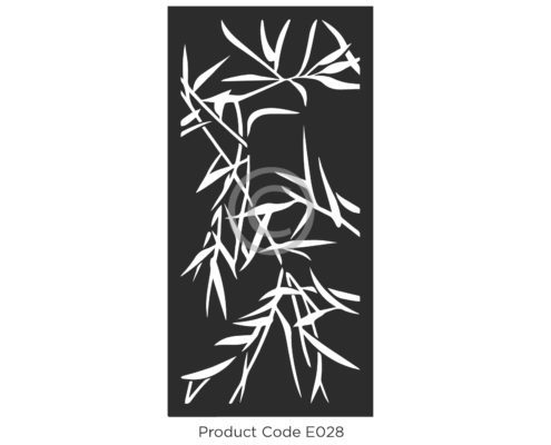 Elysium Decorative Screen Product Code Botanical Design of Private Bamboo leaves E029