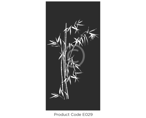 Elysium Decorative Screen Product Code E029 Organic Design of Private Bamboo leaves